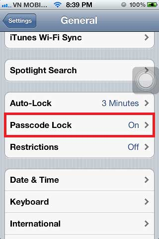 how to change passcode lock on iphone