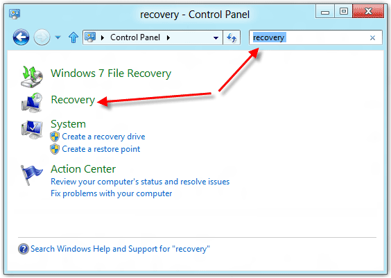 how to get windows to begin restore