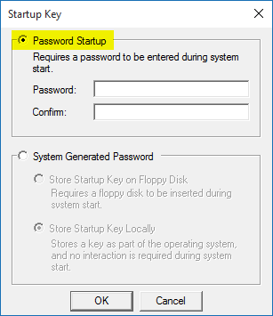 syskey-startup-password