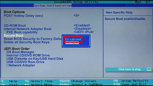 Secure Boot Password Recovery