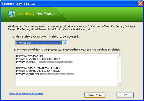 how to find windows xp product key in registry