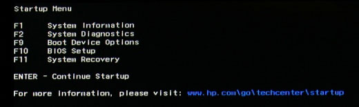 hp-startup-menu