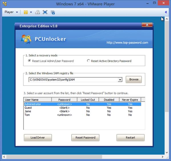 reset-vmware-player-password