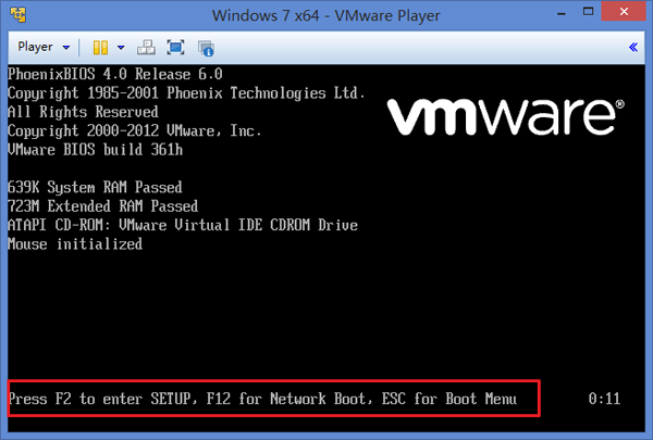 vmware-boot-up