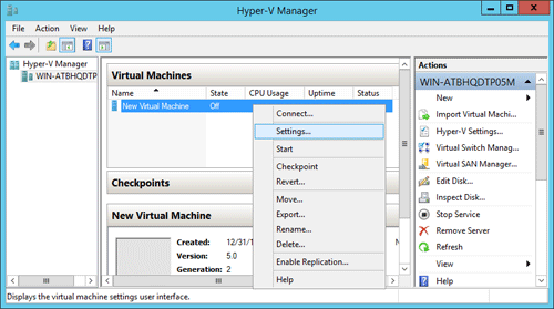 How to Reset Windows Server 2012 Password for Hyper-V
