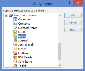 Outlook-Copy-Items