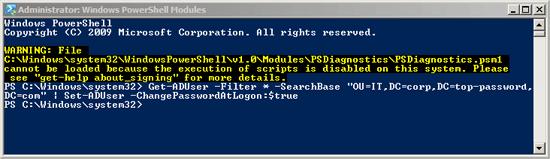 reset user password windows 10 powershell