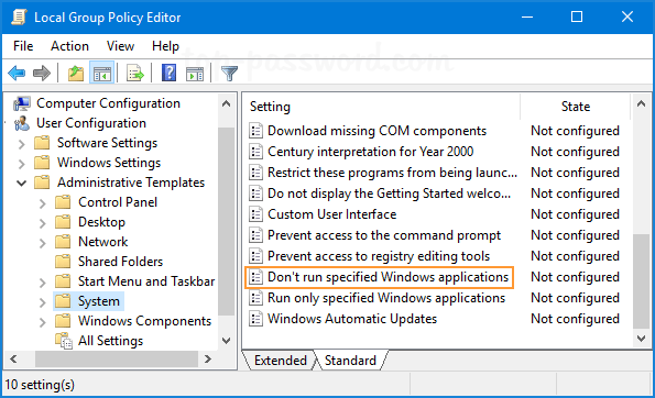 can t find local group policy editor
