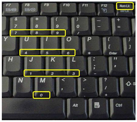 Turn off num lock on laptop password recovery