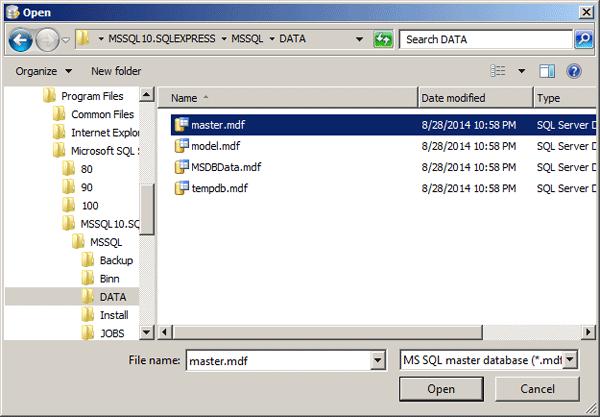 select-master-database