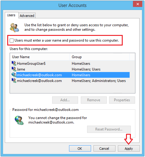 microsoft user login