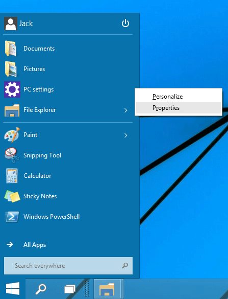 start-menu-properties