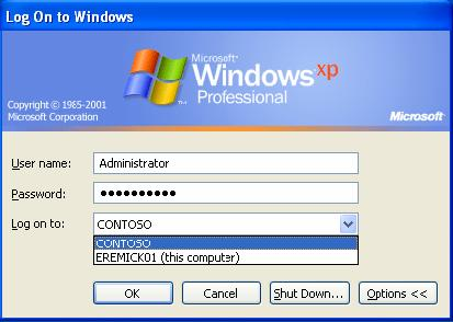 xp-log-on-domain