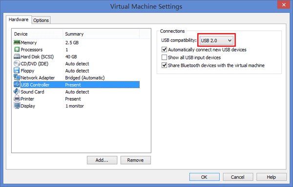 vmware player cannot connect to the machine