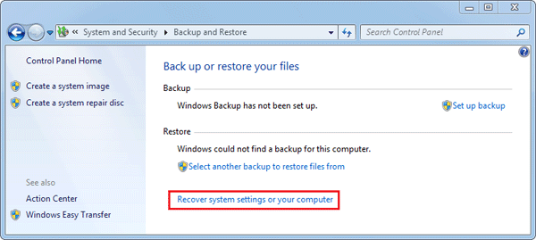 factory resetting a windows computer