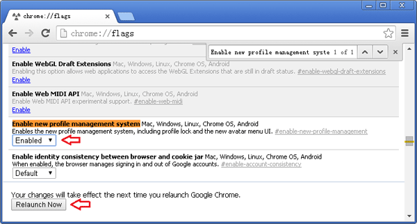 enable-chrome-profile-management