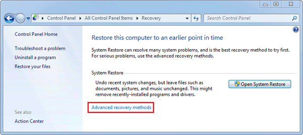 computer factory reset windows 7