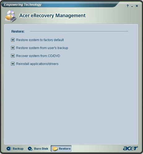 Acer-eRecovery