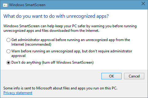 disable-smartscreen