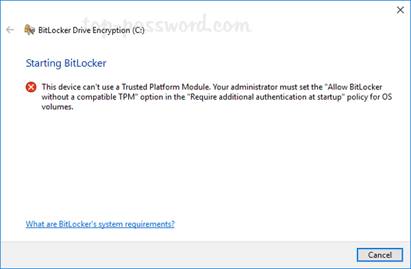 Bitlocker Tpm Not Found | Password Recovery