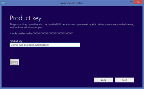 windows 10 setup product key