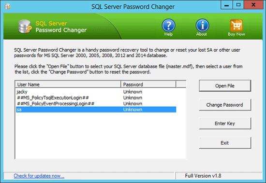 sql-server-2012-password