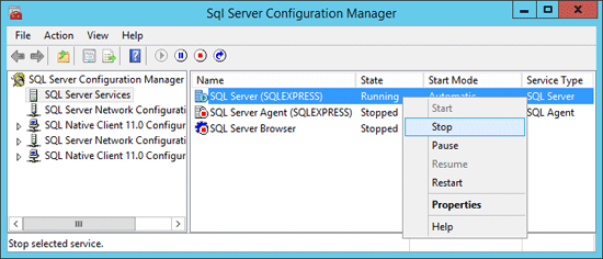stop-sql-server