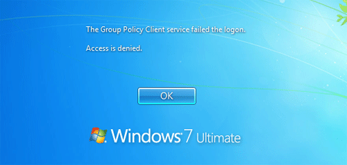 "2 Methods to Fix ""The Group Policy Client service failed the logon"