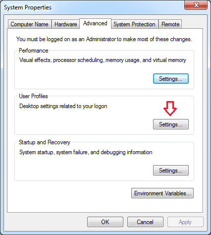 the user profile service service failed the logon. user profile cannot be loaded. windows 2008 r2