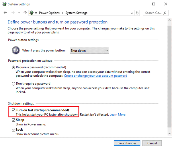 How to Turn On or Off Fast Startup Missing in Windows 10 | Password