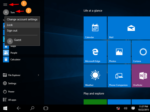 lock-windows-from-start-screen