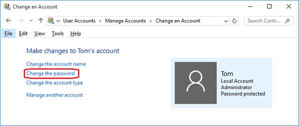 change-windows-password