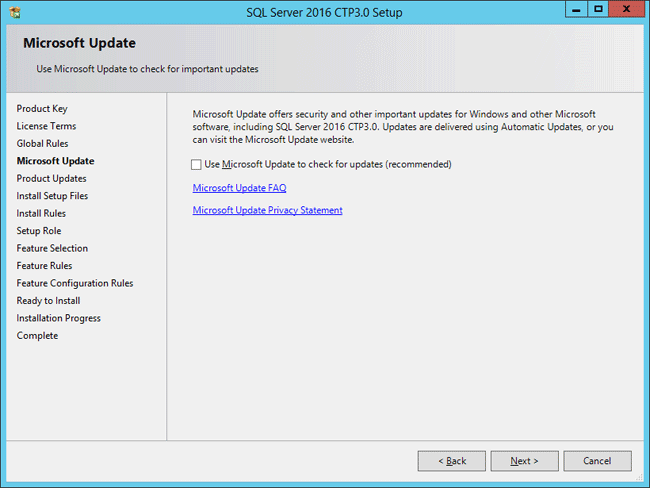 How to Install SQL Server 2016 CTP 3 0 on Windows Server