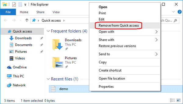 remove-from-quick-access