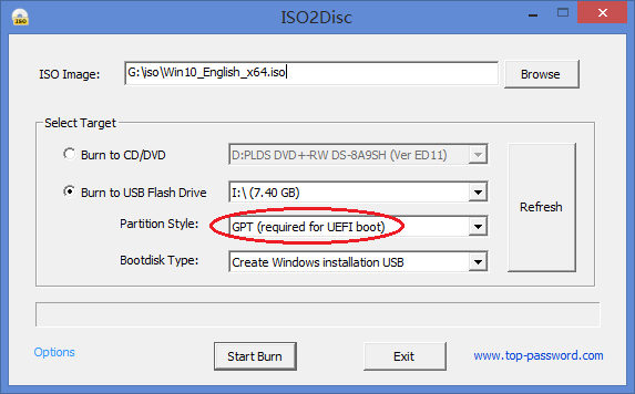 Create UEFI or Legacy Bootable USB Drive for Windows 10 Setup