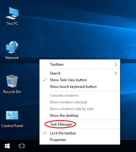 how to bring up windows task manager
