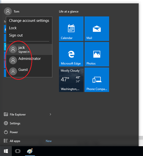 how to quickly change windoes from one screen to another