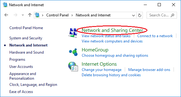 network-sharing-center