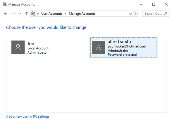 select-microsoft-account