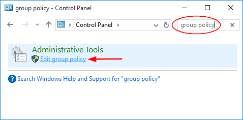windows 2016 local group policy editor