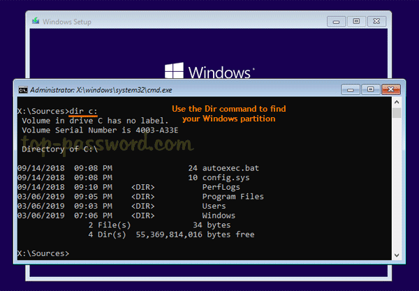 Reset Lost Windows 10 Password with Sticky Keys Method