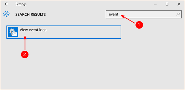 search-event-in-settings