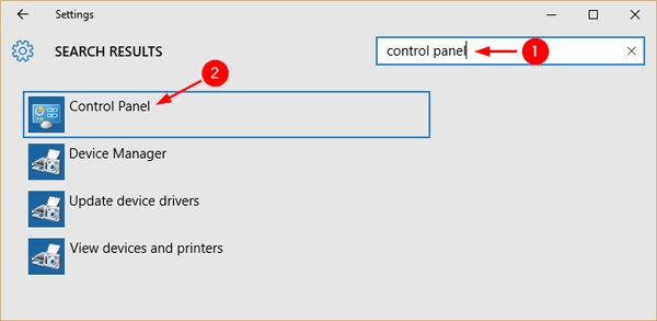 open-control-panel-via-settings