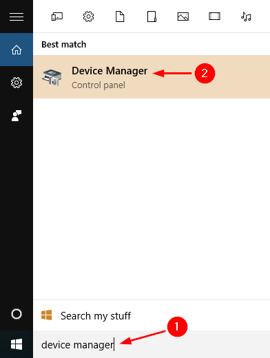 open-device-manager-via-cortana