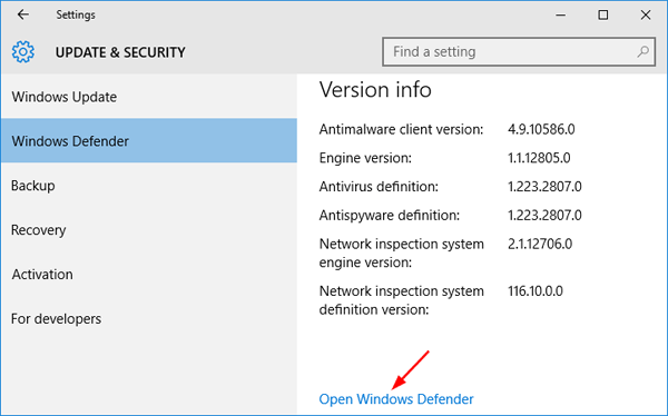open-windows-defender