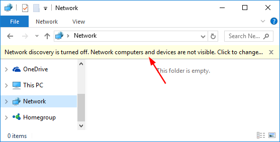 network discovery turned off gpo