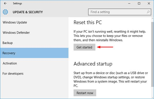 3 Ways to Reset Windows 10 Computer to Factory Settings | Password