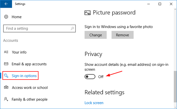 3 Ways to Hide or Show Email Address on Windows 10 Login