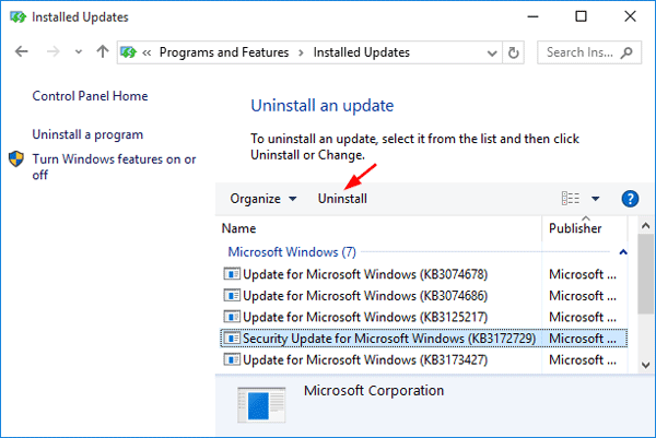 uninstall-windows-updates