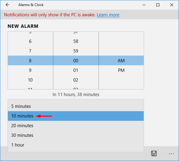 alarm-snooze-time